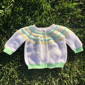 Handmade Knitted Striped Sweater